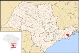 13 de Agosto – Mapa de localização — Natividade da Serra (SP) — 44 Anos em 2017.