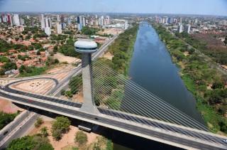 16 de Agosto – Foto aérea do Mirante Ponte Estaiada — Teresina (PI) — 165 Anos em 2017.
