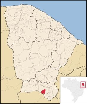 17 de Agosto – Mapa de localização — Barbalha (CE) — 171 Anos em 2017.