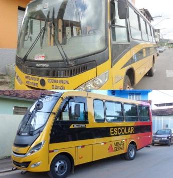 18 de Agosto – Ônibus escolar do município — 64 Anos em 2017.