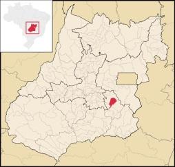 19 de Agosto – Mapa de localização — Vianópolis (GO) — 69 Anos em 2017.