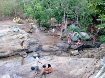 24 de Agosto — Banhistas na Festa da Padroeira — Taquarana (AL) — 55 Anos em 2017.