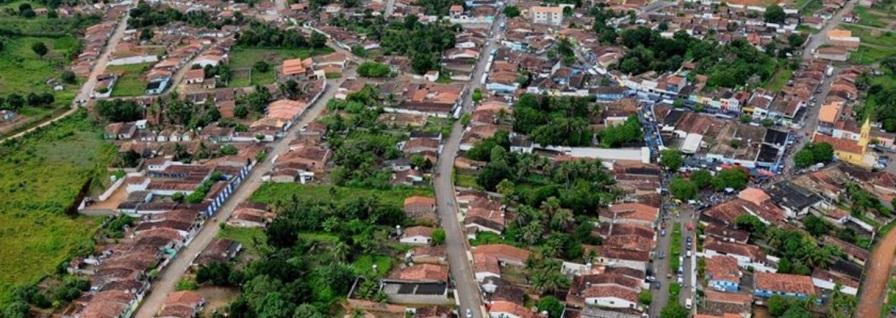 24 de Agosto — Foto aérea da cidade — Taquarana (AL) — 55 Anos em 2017.
