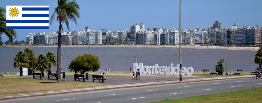 25 de Agosto — 1825 — O Uruguai se proclama independente do Império do Brasil - Foto de Montevidéu, capital do Uruguai.