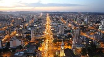 25 de Agosto — Foto aérea da cidade — Chapecó (SC) — 100 Anos em 2017.
