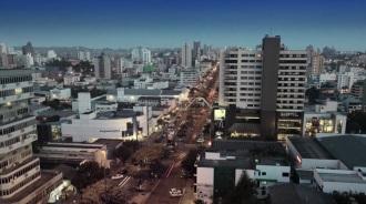 25 de Agosto — Vista panorâmica da cidade — Chapecó (SC) — 100 Anos em 2017.