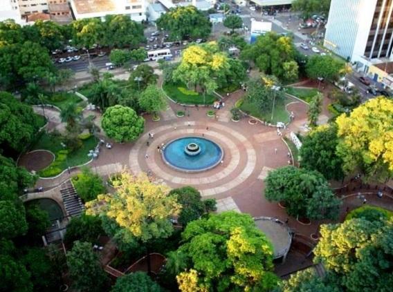 26 de Agosto — Foto aérea da Praça Ary Coelho — Campo Grande (MS) — 118 Anos em 2017.