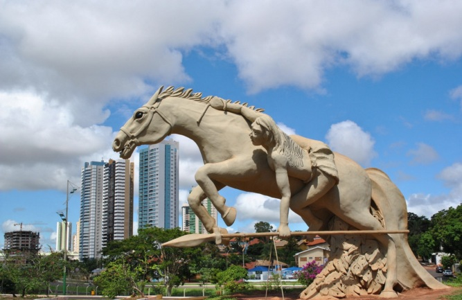 26 de Agosto — Monumento Cavaleiro Guaicuru - Parque das Nações Índigenas — Campo Grande (MS) — 118 Anos em 2017.