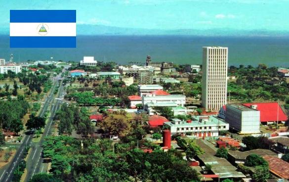 27 de Agosto — 1971 – Adotada a bandeira da Nicarágua. Foto de Manágua, capital da Nicarágua