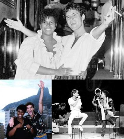 27 de Agosto — Sandra de Sá - 1955 – 62 Anos em 2017 - Acontecimentos do Dia - Foto 20 - Sandra de Sá e Cazuza.