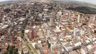 28 de Agosto — Foto aérea da cidade — Araguari (MG) — 129 Anos em 2017.