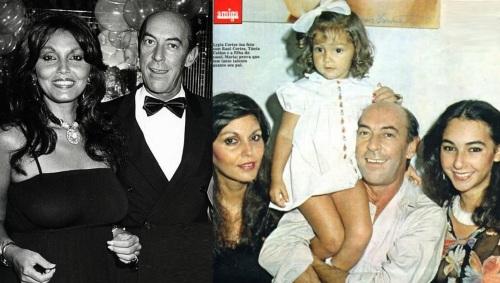 28 de Agosto — Raul Cortez - 1932 – 85 Anos em 2017 - Acontecimentos do Dia - Foto 21 - Raul Cortez com Tânia Alves, e as filhas, Ligia e Maria.