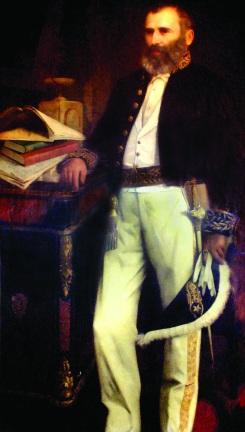 29 de Agosto — Bezerra de Menezes - 1831 – 186 Anos em 2017 - Acontecimentos do Dia - Foto 9 - A tela com imagem do Dr. Bezerra de Menezes, que fica exposta na Câmara.