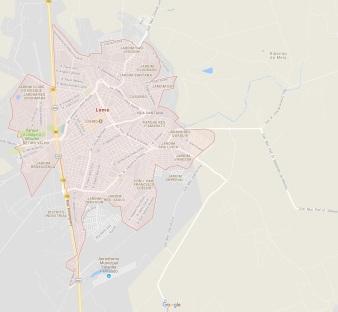 29 de Agosto — Mapa da cidade — Leme (SP) — 122 Anos em 2017.