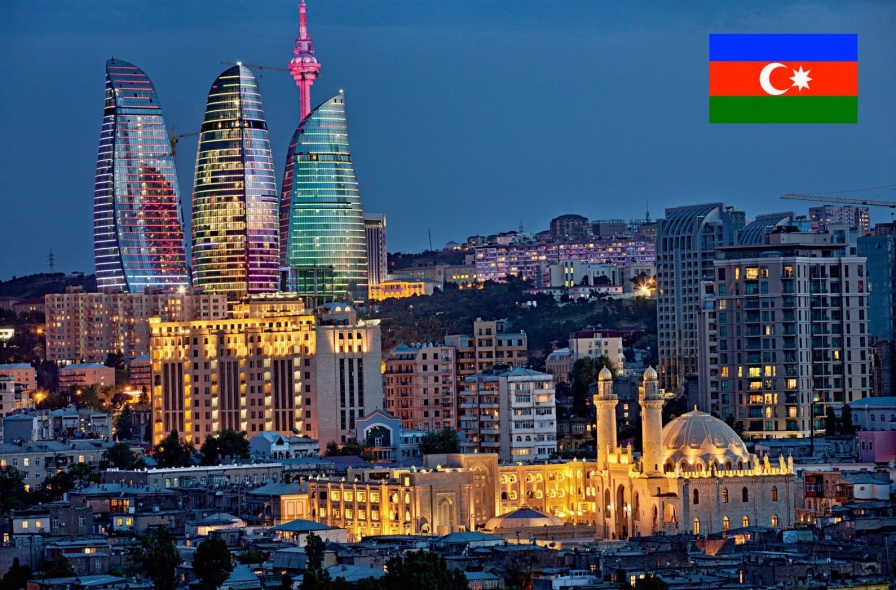 30 de Agosto — 1991 – Independência do Azerbaijão. Foto de Baku, capital do Azerbaijão.