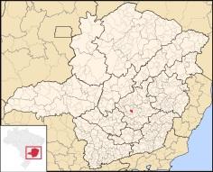 30 de Agosto — Mapa de localização — Contagem (MG) — 106 Anos em 2017.