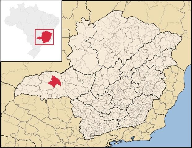 31 de Agosto — Mapa de localização — Uberlândia — 129 Anos em 2017.
