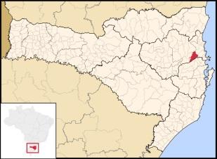4 de Agosto – Mapa de localização — Brusque (SC) — 157 Anos em 2017.