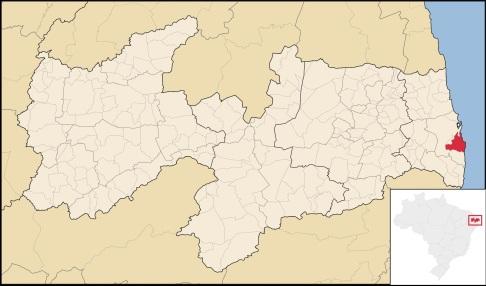 5 de Agosto – Mapa de localização — João Pessoa (PB) — 432 Anos em 2017.