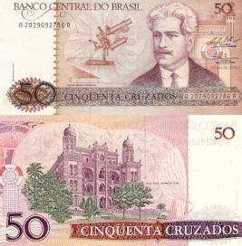 5 de Agosto – Osvaldo Cruz - 1872 – 145 Anos em 2017 - Acontecimentos do Dia - Foto 3 - Cédula, nota de 50 cruzados.