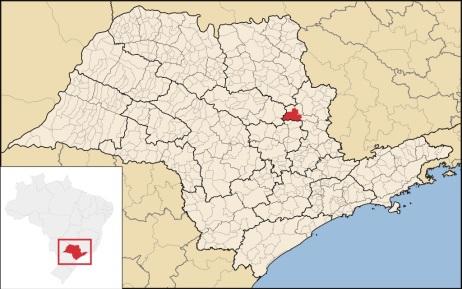 6 de Agosto – Mapa de localização — Pirassununga (SP) — 194 Anos em 2017.