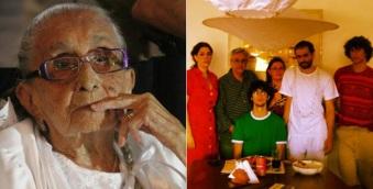 7 de Agosto – Caetano Veloso - 1942 – 75 Anos em 2017 - Acontecimentos do Dia - Foto 11 - Dona Canô, esposa Paula Lavigne e filhos.