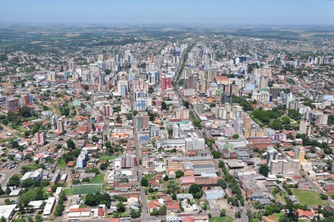 7 de Agosto – Foto aérea da cidade — Passo Fundo (RS) — 160 Anos em 2017.