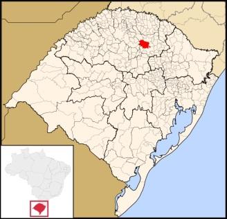 7 de Agosto – Mapa de localização — Passo Fundo (RS) — 160 Anos em 2017.