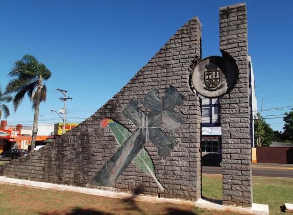 7 de Agosto – Vista Parcial da Praça Boqueirão Legal — Passo Fundo (RS) — 160 Anos em 2017.