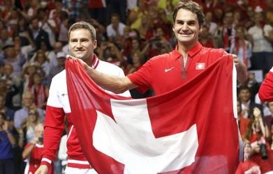 8 de Agosto – Roger Federer - 1981 – 36 Anos em 2017 - Acontecimentos do Dia - Foto 18 - Na Taça Davis pela Suiça.