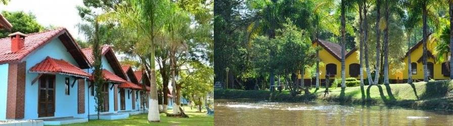 9 de Agosto – À esquerda, o Hotel Fazenda Floresta do Lago, e à direita, a Pousada dos Lagos — Socorro (SP) — 188 Anos em 2017.