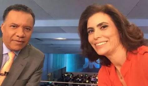 1 de Setembro – Heraldo Pereira - 1961 – 56 Anos em 2017 - Acontecimentos do Dia - Foto 11 - Heraldo Pereira e Giuliana Morrone na 'selfie do dia' no JN.