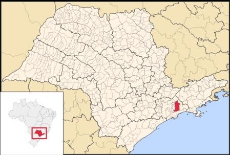 1 de Setembro – Mapa de localização — Mogi das Cruzes (SP) — 457 Anos em 2017.