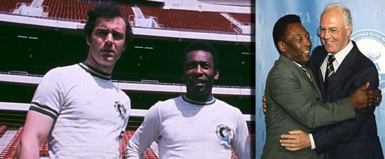 11 de Setembro – Franz Beckenbauer - 1945 – 72 Anos em 2017 - Acontecimentos do Dia - Foto 19 - Franz Beckenbauer e Pelé, no Cosmos.