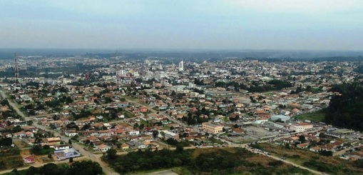 12 de Setembro – Foto aérea da cidade — Canoinhas (SC) — 106 Anos em 2017.