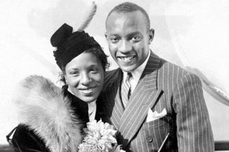 12 de Setembro – Jesse Owens - 1913 – 104 Anos em 2017 - Acontecimentos do Dia - Foto 9 - Jesse Owens com sua esposa, Ruth Owens.