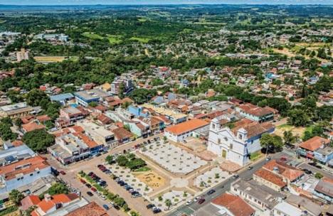 14 de Setembro – Foto aérea da cidade — Viamão (RS) — 276 Anos em 2017.