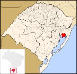 14 de Setembro – Mapa de localização — Viamão (RS) — 276 Anos em 2017.
