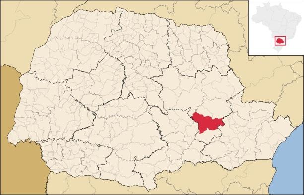 15 de Setembro – Mapa de localização — Ponta Grossa (PR) — 194 Anos em 2017.
