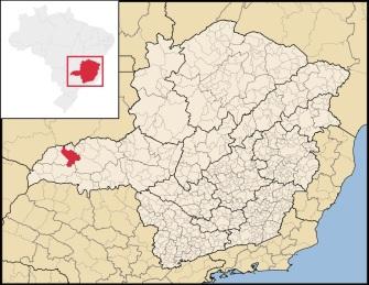 16 de Setembro – Mapa de localização — Ituiutaba (MG) — 116 Anos em 2017.