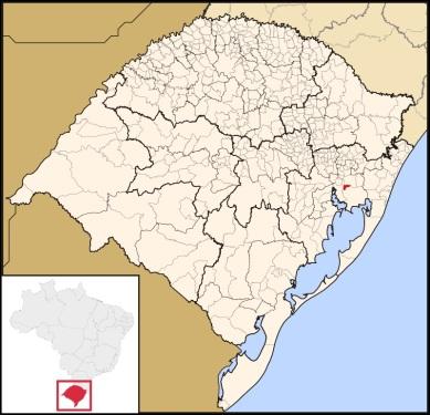 17 de Setembro – Mapa de localização — Alvorada (RS) — 52 Anos em 2017.