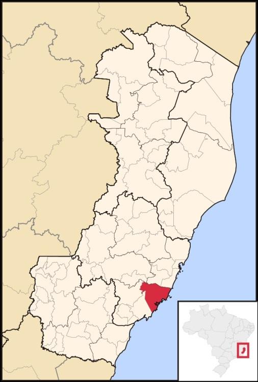 19 de Setembro – Mapa de localização — Guarapari (ES) — 126 Anos em 2017.