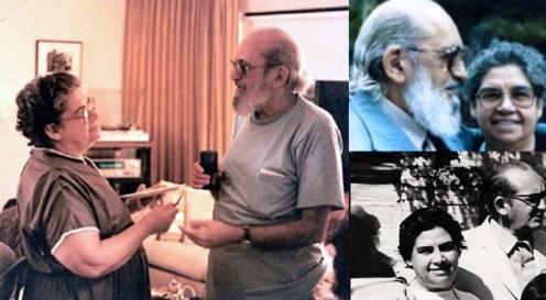 19 de Setembro – Paulo Freire - 1921 – 96 Anos em 2017 - Acontecimentos do Dia - Foto14 - Paulo Freire e a esposa Elza.