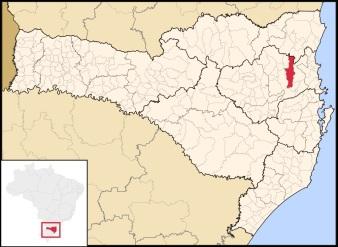 2 de Setembro – Mapa de localização — Blumenau (SC) — 167 Anos em 2017.