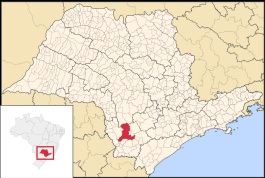 20 de Setembro – Mapa de localização — Itapeva (SP) — 248 Anos em 2017.