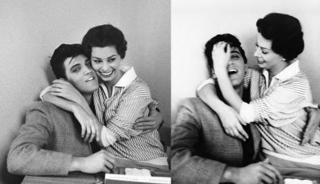 20 de Setembro – Sophia Loren - 1934 – 83 Anos em 2017 - Acontecimentos do Dia - Foto 14 - Elvis Presley e Sophia Loren, na cafeteria dos estúdios da Paramount.