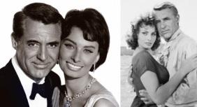 20 de Setembro – Sophia Loren - 1934 – 83 Anos em 2017 - Acontecimentos do Dia - Foto 17 - Sophia Loren e Cary Grant.