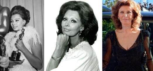 20 de Setembro – Sophia Loren - 1934 – 83 Anos em 2017 - Acontecimentos do Dia - Foto 22 - Sophia Loren em 1962, 1986 e 2014.
