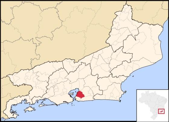 22 de Setembro – Mapa de localização — São Gonçalo (RJ) — 127 Anos em 2017.
