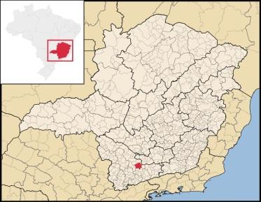 23 de Setembro – Mapa de localização — Três Corações (MG) — 133 Anos em 2017.